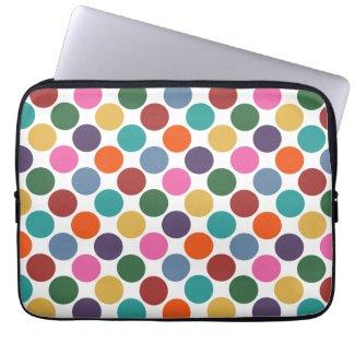 Polka Dot Laptop Sleeve