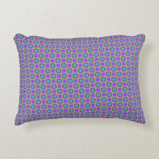 Polka Dot Pattern - Blue Violet Purple Lavender Decorative Cushion