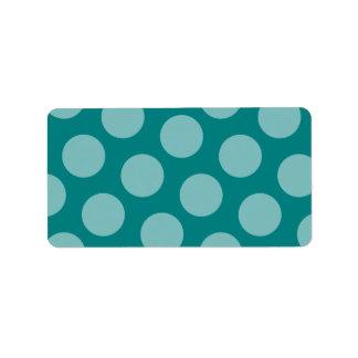 Polka Dot Pattern Label