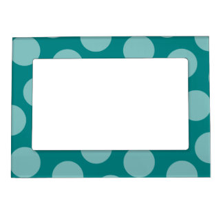 Polka Dot Pattern Magnetic Frame