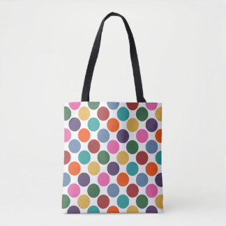 Polka Dot Pattern Tote Bag