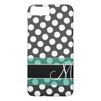 Polka Dot Pattern with Monogram iPhone 7 Plus Case