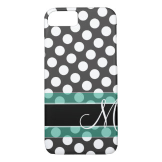 Polka Dot Pattern with Monogram iPhone 8/7 Case