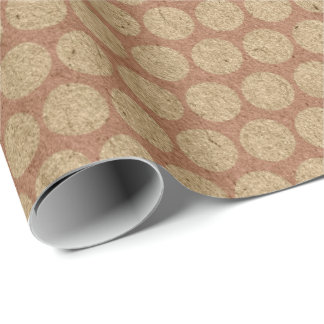 polka dot pattern wrapping paper