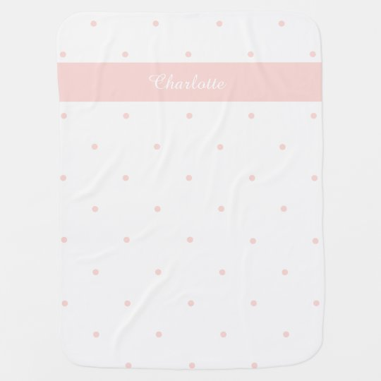 Polka Dot Personalised Baby Blanket Pink