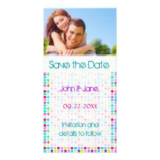 """Polka Dot/photo  """"Save the Date"""" Card"""