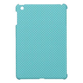 Polka dot pin dots girly chic blue pattern iPad mini case