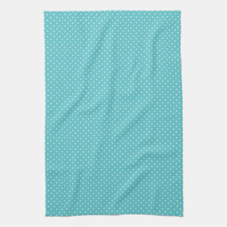 Polka dot pin dots girly chic blue pattern tea towel