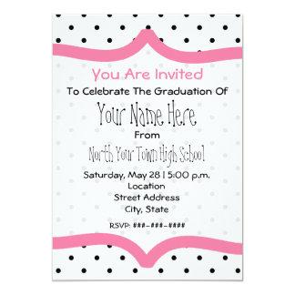 Polka Dot & Pink Class of 2011 Graudation Invite