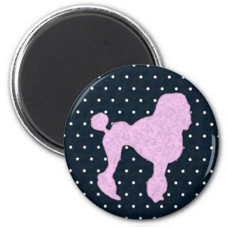 Polka Dot Poodle Magnet
