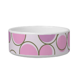Polka Dot Purple Pink Pet Bowl