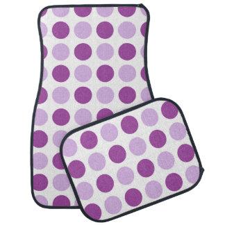 Polka Dot Purples Car Mat
