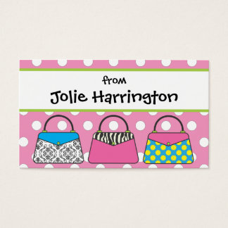 Polka Dot Purse Handbag Gift Card Calling Card