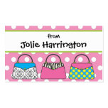 Polka Dot Purse Handbag Gift Card Calling Card Business Cards