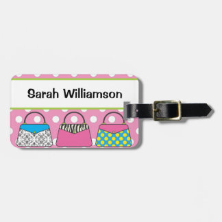 Polka Dot Purse Handbag Luggage Tag