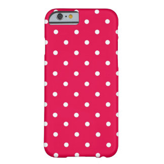 Polka Dot Red & White Barely There iPhone 6 Case