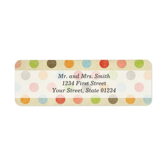 Polka Dot Return Address Labels
