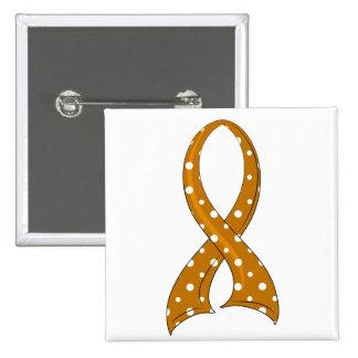 Polka Dot Ribbon Appendix Cancer 15 Cm Square Badge
