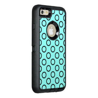 Polka Dot Rings - Black OtterBox Defender iPhone Case