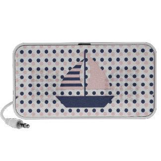 Polka Dot Sail Boat Mp3 Speakers