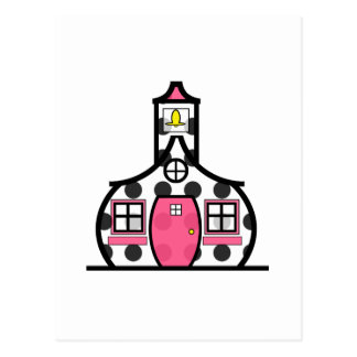 Polka Dot Schoolhouse Postcard