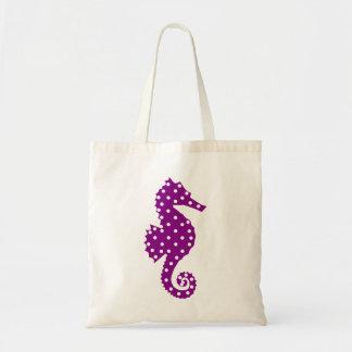 Polka Dot Seahorse Canvas Bags