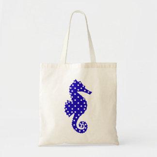 Polka Dot Seahorse Canvas Bag