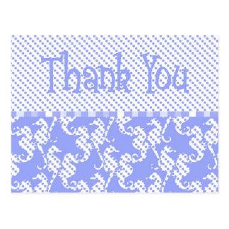 polka dot searhose card postcard