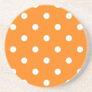 Polka Dot Series---Orange & White coaster