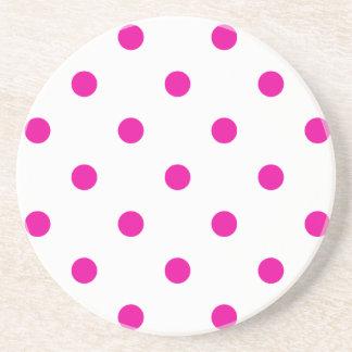 Polka Dot Series---Pink & White coaster