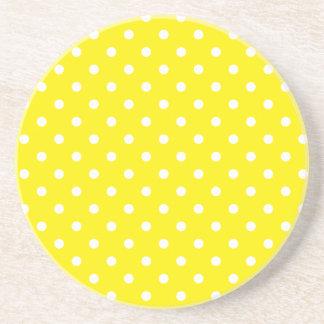 Polka Dot Series---Yellow & White coaster