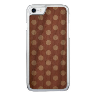 Polka Dot Slim Walnut iPhone 6 Carved iPhone 8/7 Case