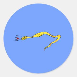 Polka Dot Snake Classic Round Sticker