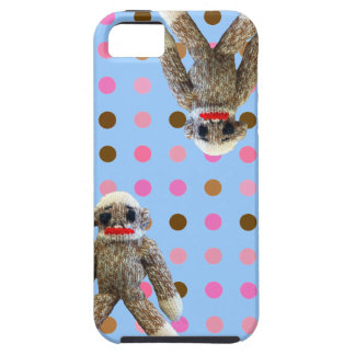 Polka Dot Sock Monkey iPhone 5 Covers