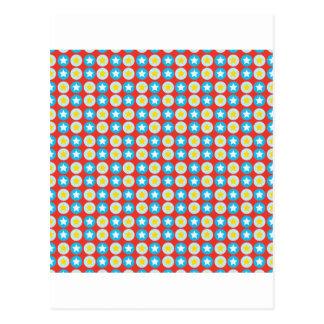 Polka Dot Stars Postcard