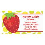 Polka Dot Strawberry Business Card Calling Card