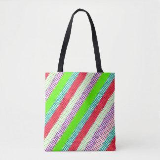 Polka Dot Stripes Tote Bag