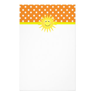 Polka Dot & Sunshine Stationary Stationery