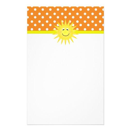 Polka Dot & Sunshine Stationary Stationery