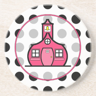 Polka Dot Teacher Coaster