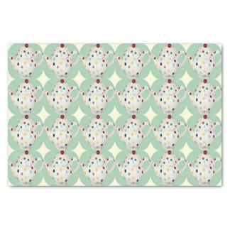 "Polka Dot Teapot Pattern 10"" X 15"" Tissue Paper"
