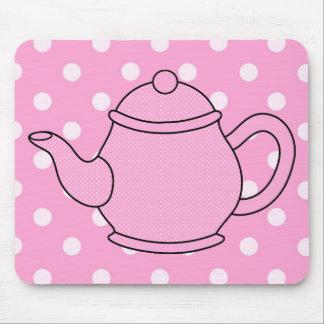 Polka Dot Teapot V4 Mouse Pad