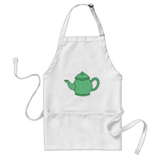 Polka Dot Teapot V5 Adult Apron