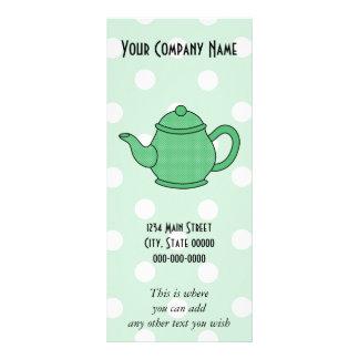Polka Dot Teapot V5 Full Colour Rack Card