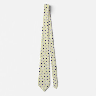 Polka Dot Ties For Men | Brass Yellow And Blue Tie