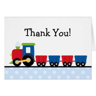 Polka Dot Train Thank You Card