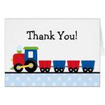 Polka Dot Train Thank You Note Card