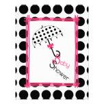 Polka Dot Umbrella Baby Shower Invitation