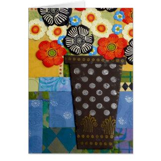 Polka Dot Vase Card