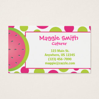 Polka Dot Watermelon Business Calling Card